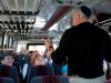 Mark address the bus on the way to Dulles.
