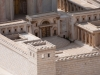 This is part of the model city - a minature replica of what the city would have looked like in Herod's time. These are the Temple doors.