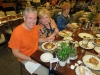 Pastor Mark and Loree partaking in a delicious dinner