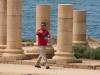 Yuval leading the group through Caesrea Maritima