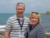 Pastor Mark Becton and Loree at Caesarea Maritima