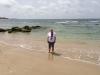 Brenda in the sea