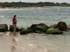 Tori enjoying the sea