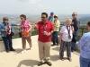 Yuval and the group at Caesarea Maritima