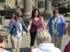 Terrie leading the women's prayer at Korazin